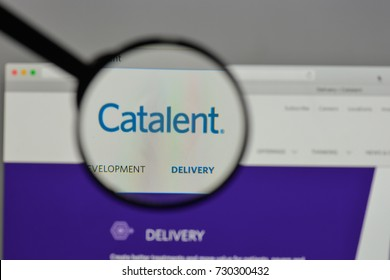 Milan, Italy - August 10, 2017: Catalent logo on the website homepage.