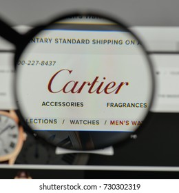 Milan, Italy - August 10, 2017: Cartier
