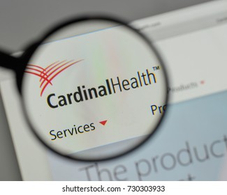 Milan, Italy - August 10, 2017: Cardinal Health logo on the website homepage.