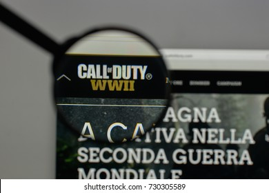 Milan, Italy - August 10, 2017: Call Of Duty logo on the website homepage.