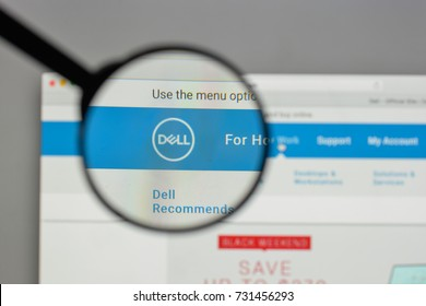 Milan, Italy - August 10, 2017: Dell logo on the website homepage.