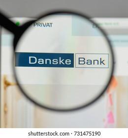 Milan, Italy - August 10, 2017: Danske Bank logo on the website homepage.