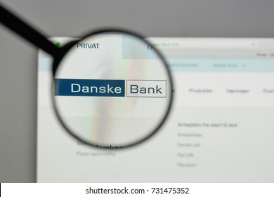 Milan, Italy - August 10, 2017: Danske Bank logo on the website homepage.