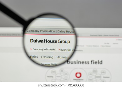 Milan, Italy - August 10, 2017: Daiwa House Industry logo on the website homepage.