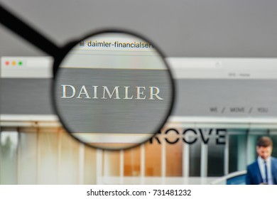 Milan, Italy - August 10, 2017: Daimler, Financial, Services logo on the website homepage.