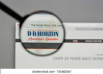 Milan, Italy - August 10, 2017: D.R. Horton logo on the website homepage.