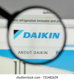 Milan, Italy - August 10, 2017: Daikin