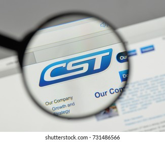 Milan, Italy - August 10, 2017: CST Brands logo on the website homepage.
