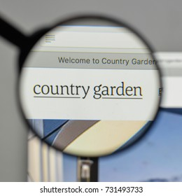 Milan, Italy - August 10, 2017: Country Garden logo on the website homepage.