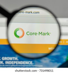 Milan, Italy - August 10, 2017: Core Mark Holding logo on the website homepage.