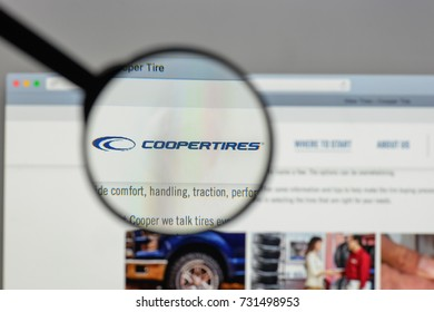 Milan, Italy - August 10, 2017: Cooper Tire & Rubber logo on the website homepage.