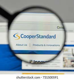 Milan, Italy - August 10, 2017: Cooper Standard Holdings logo on the website homepage.