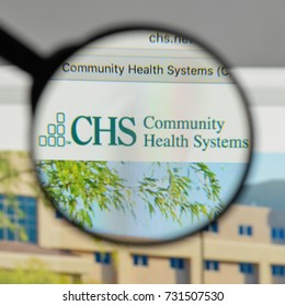 Milan, Italy - August 10, 2017: chs, Community Health Systems logo on the website homepage.