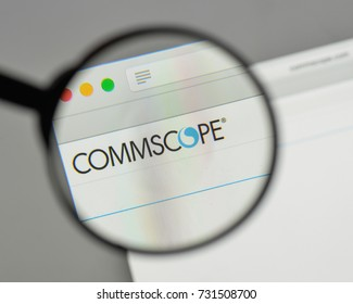 Milan, Italy - August 10, 2017: CommScopeHolding logo on the website homepage.