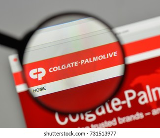 Milan, Italy - August 10, 2017: Colgate-Palmolive logo on the website homepage.