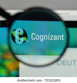 Milan, Italy - August 10, 2017: Cognizant logo on the website homepage.