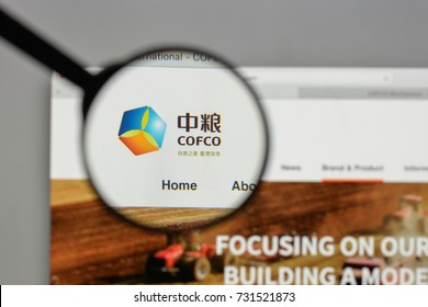 Milan, Italy - August 10, 2017: COFCO logo on the website homepage.