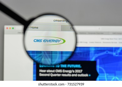 Milan, Italy - August 10, 2017: CMS Energy logo on the website homepage.