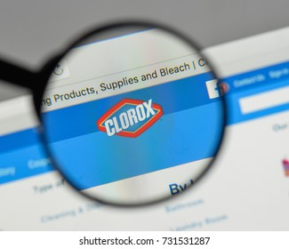 Milan, Italy - August 10, 2017: Clorox logo on the website homepage.