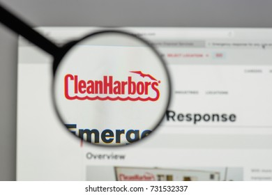 Milan, Italy - August 10, 2017: Clean Harbors logo on the website homepage.