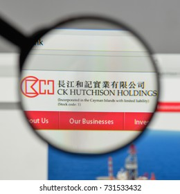 Milan, Italy - August 10, 2017: CK Hutchison Holdings logo on the website homepage.