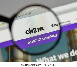 Milan, Italy - August 10, 2017: CH2M Hill logo on the website homepage.