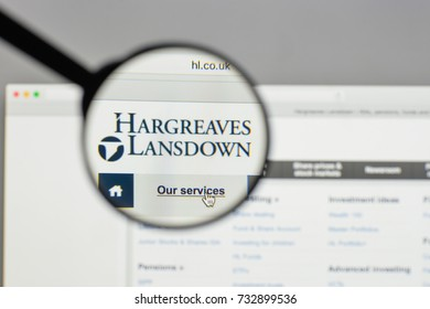 Milan, Italy - August 10, 2017: Hargreaves Lansdown logo on the website homepage.
