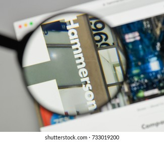 Milan, Italy - August 10, 2017: Hammerson logo on the website homepage.
