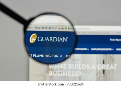 Milan, Italy - August 10, 2017: Guardian Life Ins. Co. of America logo on the website homepage.