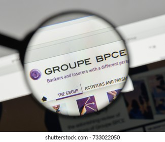Milan, Italy - August 10, 2017: Groupe BPCE logo on the website homepage.