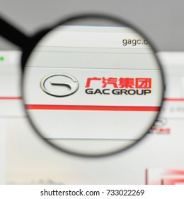 Milan, Italy - August 10, 2017: Guangzhou Automobile Industry Group logo on the website homepage.