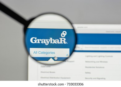Milan, Italy - August 10, 2017: Graybar Electric logo on the website homepage.