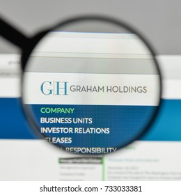 Milan, Italy - August 10, 2017: Graham Holdings logo on the website homepage.