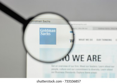 Milan, Italy - August 10, 2017: Goldman Sachs logo on the website homepage.