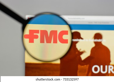 Milan, Italy - August 10, 2017: FMC logo on the website homepage.