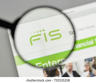 Milan, Italy - August 10, 2017: FIS logo on the website homepage.