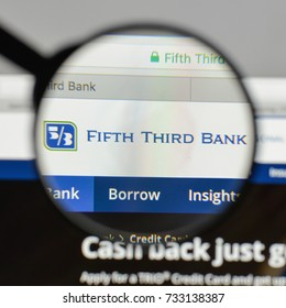 Milan, Italy - August 10, 2017: Fifth Third Bancorp logo on the website homepage.