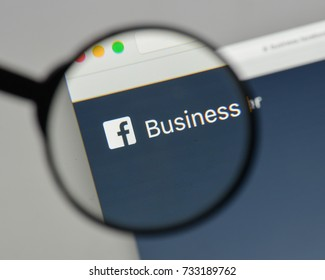 Milan, Italy - August 10, 2017: Facebook Business logo on the website homepage.