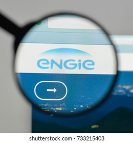 Milan, Italy - August 10, 2017: Engie logo on the website homepage.