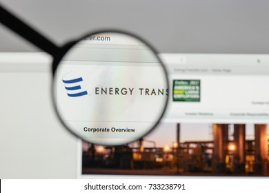 Milan, Italy - August 10, 2017: Energy Transfer Equity logo on the website homepage.