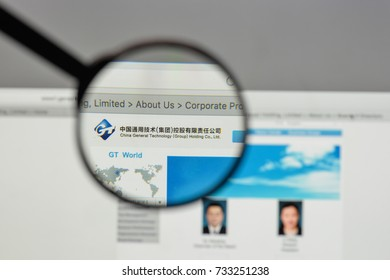 Milan, Italy - August 10, 2017: China General Technology logo on the website homepage.