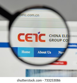 Milan, Italy - August 10, 2017: China Electronics Technology Group logo on the website homepage.
