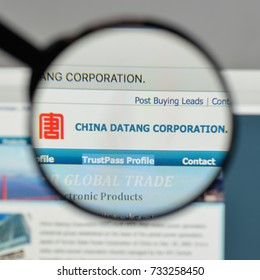 Milan, Italy - August 10, 2017: China Datang logo on the website homepage.