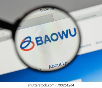 Milan, Italy - August 10, 2017: China Baowu Steel Group logo on the website homepage.