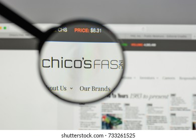 Milan, Italy - August 10, 2017: Chico's FAS logo on the website homepage.