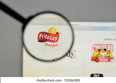 Milan, Italy - August 10, 2017: Cheetos logo on the website homepage.