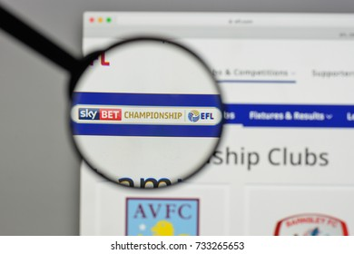Milan, Italy - August 10, 2017: Championship logo on the website homepage.