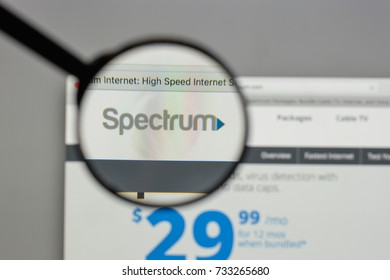 Milan, Italy - August 10, 2017: Charter Communications logo on the website homepage.