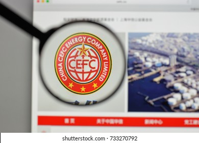 Milan, Italy - August 10, 2017: CEFCChinaEnergy logo on the website homepage.