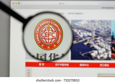 Milan, Italy - August 10, 2017: CEFC China Energy logo on the website homepage.